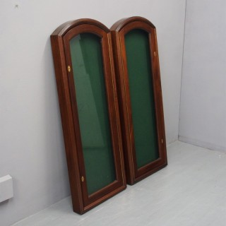 Pair of Mahogany Wall Mounted Display Cabinets