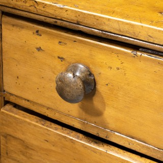 A Most Unusual Early 19th Century Pine Chest of Drawers