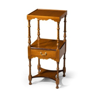 An Attractive Late 19th Century Mahogany Two-Tiered Night Stand.