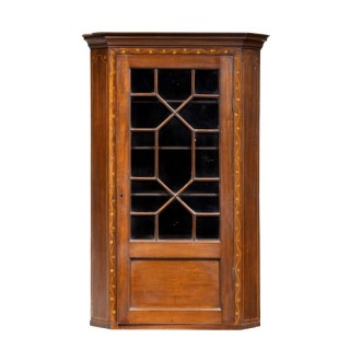A Most Attractive George III Period Mahogany Corner Cupboard