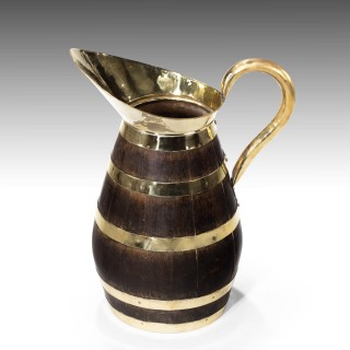 An Extraordinary Mid 19th Century Coopered Oak Jug of Massive Proportions