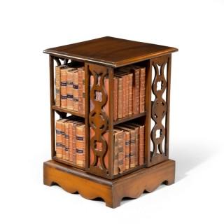 A Small Late 20th Century Mahogany Revolving Bookcase