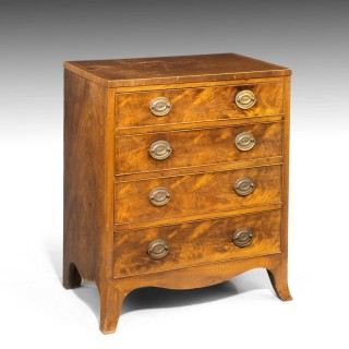 A Very Small Sheraton Period Mahogany Chest of Drawers