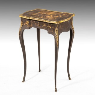 A Late 19th Century Vernis Martin Work Table