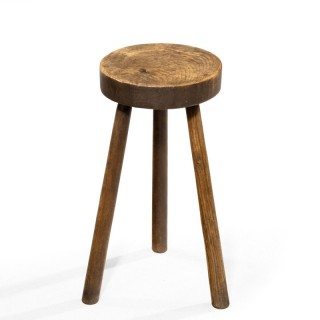 A Well - Figured Mid 19th Century Three Legged Stool