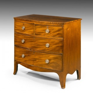 An Attractive George III Period Bow Fronted Chest of Drawers