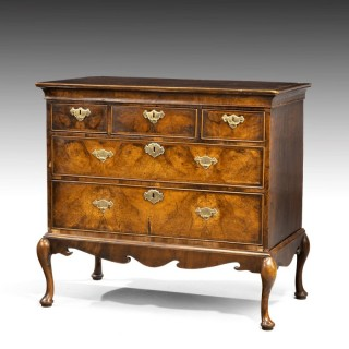 An Early 18th Century Finely Figured Partial Walnut Chest