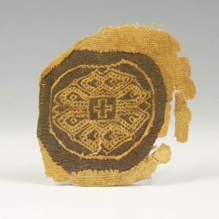 Coptic Textile Fragment with Cross