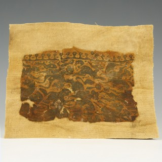 Intricately Decorated Coptic Fragment