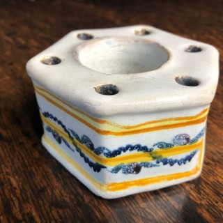 Delft Inkwell, England, 18th Century