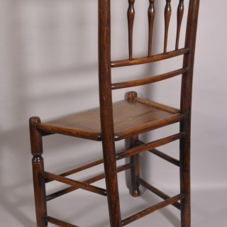 Antique 19th Century Ash and Elm Clissett Spindleback Chair