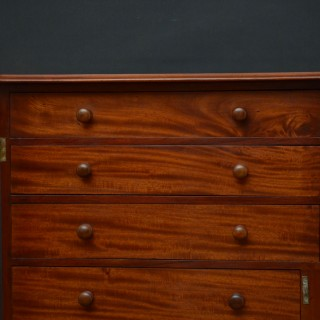 Victorian Mahogany Wellington Chest