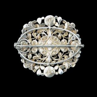 A stunning silver brooch by the Gaskins