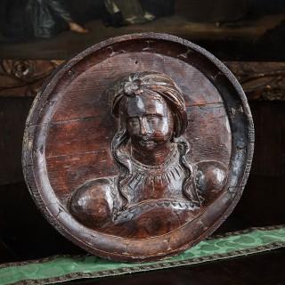 Henry VIII carved medallion