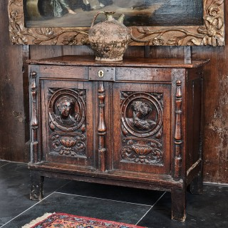 Henry VIII carved chest