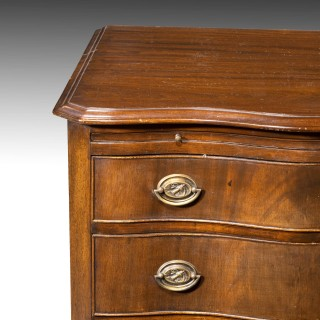 A Small Early 20th Century Mahogany Serpentine Chest of Drawers
