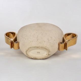 Kaza Ceramic and Gilt Vase Circa 1930