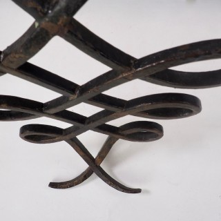 Wrought Iron and Mirrored Glass Console in the Manner of Rene Prou Circa 1940