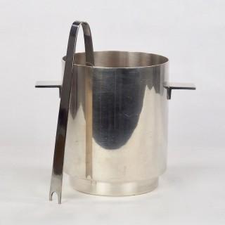 Lino Sabattini for Christofle Ice Bucket and Tongs with Wine Cooler 1970s