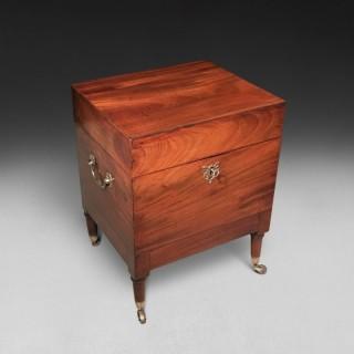 Early 19th century mahogany rectangular Campaign Cellarette