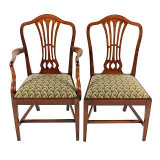 Set of Eight Georgian Hepplewhite Chairs