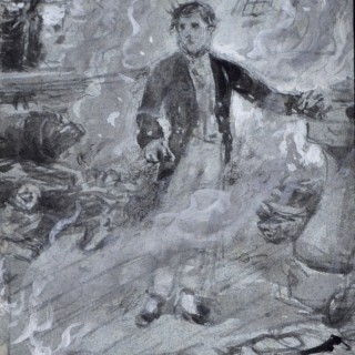 George Goodwin Kilburne - Casabianca - watercolour