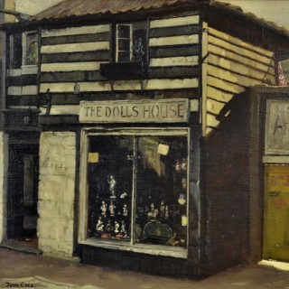 John Cole - The Doll's House, Kensington Church Street - oil