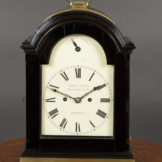 George III Ebonised English Fusee Bracket Clock by Jabez Smith, London c.1790