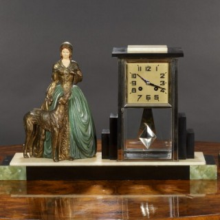 Art Deco Clock Garniture