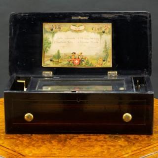 Miniature Rosewood Swiss Music Box