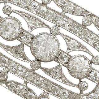 Antique 1920s 1.83ct Diamond and Platinum Brooch by Garrard