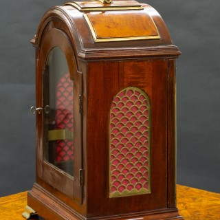 Georgian Mahogany Three Pad English Verge Fusee Bracket Clock by George Turner, Honiton