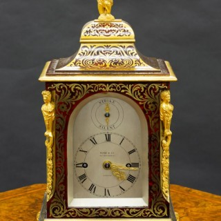 Tortoiseshell Boulle English Fusee Bracket Clock by William Payne, London