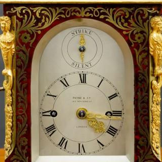 Tortoiseshell Boulle English Fusee Bracket Clock by William Payne, London