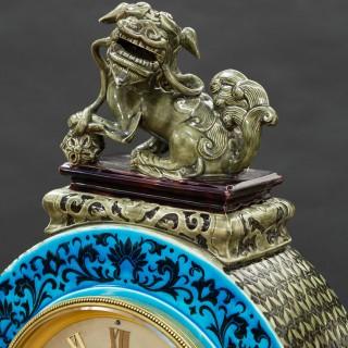 French Porcelain Mantel Clock