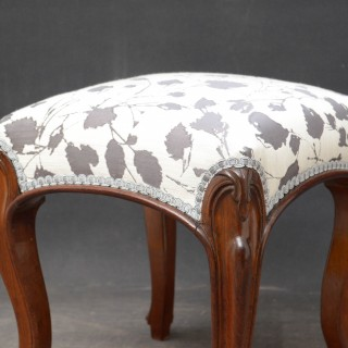 Small Victorian Stool in Rosewood