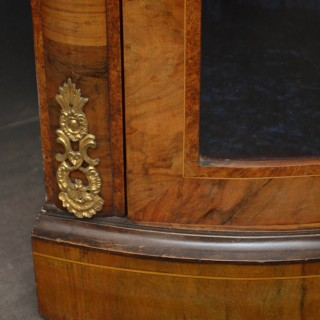 Victorian Walnut Corner Cabinet