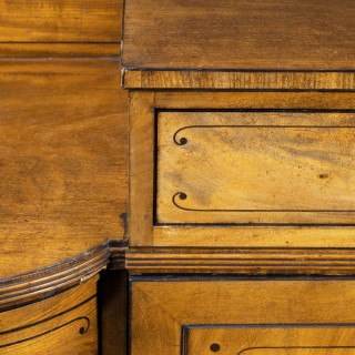 A Beautifully Figured Regency Period Sideboard in Three Sections