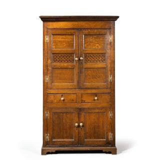 A Quite Exceptionally Fine Late 18th Century Oak Cupboard