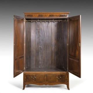 A Handsome Late 19th Century Mahogany Two Door Press