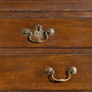 A Good and Original George III Period Oak Chest on Chest