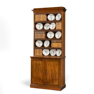 A Good and Original William IV Period Tall Bookcase