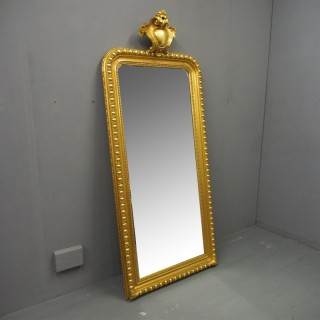 Swedish Victorian Carved Giltwood Mirror