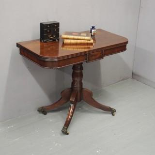 George III Mahogany Foldover Table