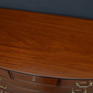 Regency Bowfronted Mahogany Chest of Drawers
