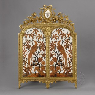 Louis XV Style  Ivory Dressing Mirror
