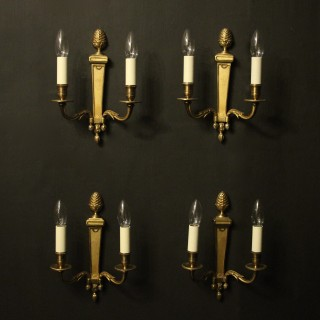 French Set Of 4 Gilded Antique Wall Lights