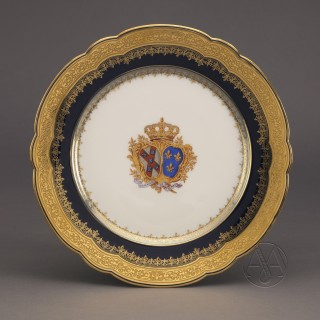 An Important 63-Piece Dinner Service Presented to Amelie, Princess of Orléans