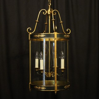 French Empire Gilded Four Light Antique Lantern