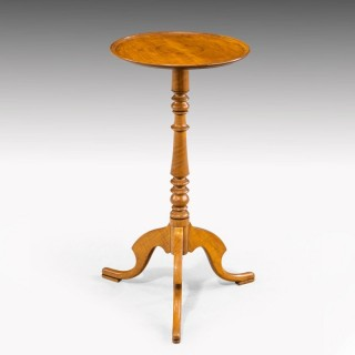 An Elegant Regency Period Satinwood Occasional Wine Table.